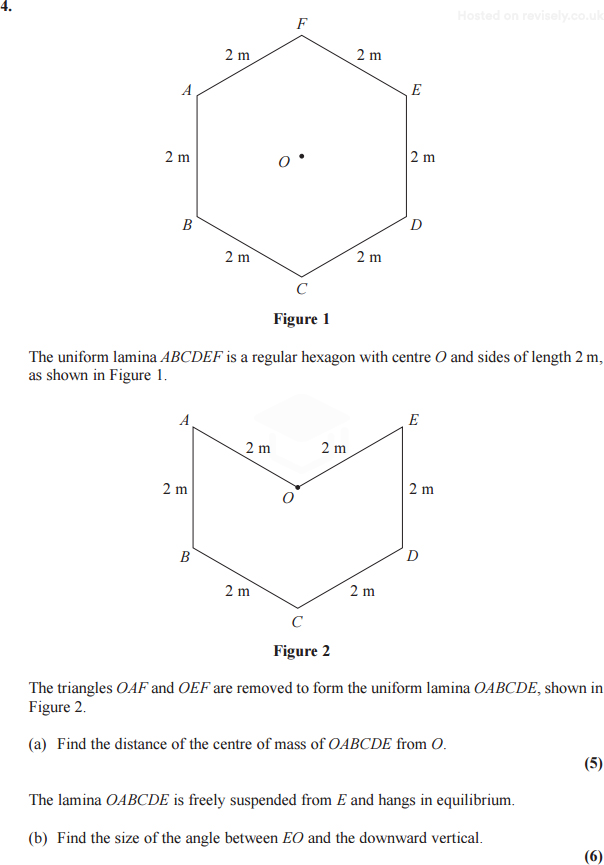 Edexcel Maths M2 June 2013